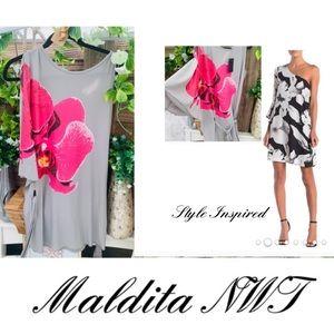 NWT Maldita One Sleeve ( butterfly) Mini tie dress